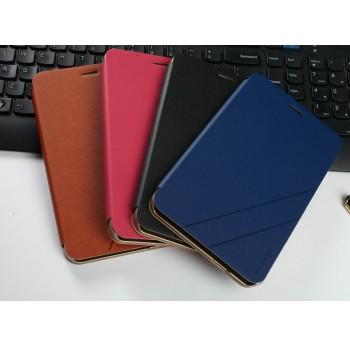Текстурный чехол флип подставка на пластиковой основе для Huawei MediaPad X2