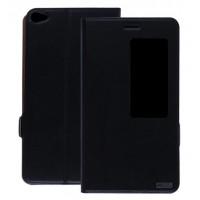 Кожаный чехол смарт флип подставка с окном вызова для Huawei MediaPad X2 Черный