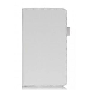 Чехол подставка с рамочной защитой и внутренними отсеками для Huawei MediaPad M1 8.0 Белый