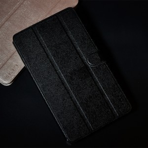 Текстурный чехол флип подставка сегментарный с магнитной защелкой для Huawei MediaPad M1 8.0 Черный