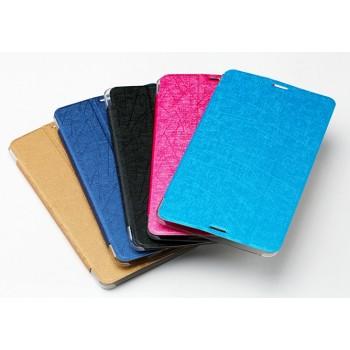 Текстурный чехол флип подставка сегментарный на пластиковой полупрозрачной основе для Huawei MediaPad M1 8.0