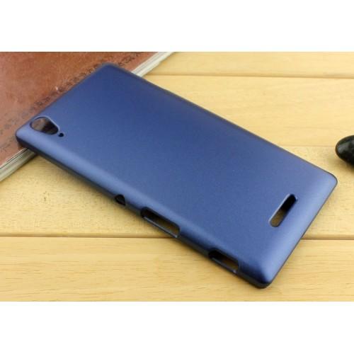 Пластиковый матовый металлик чехол для Sony Xperia T3