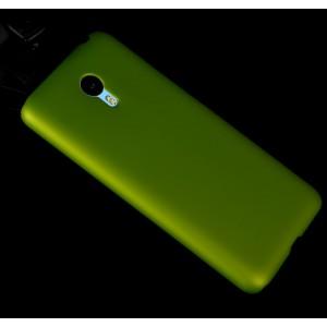 Пластиковый матовый металлик чехол для Meizu M2 Note Зеленый