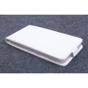 Чехол вертикальная книжка на силиконовой основе с магнитной застежкой для Microsoft Lumia 640 XL Белый