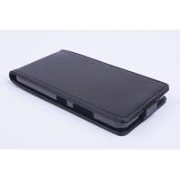 Чехол вертикальная книжка на силиконовой основе с магнитной застежкой для Microsoft Lumia 640 XL Черный