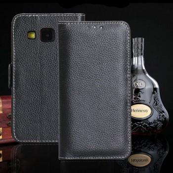 Кожаный чехол портмоне подставка для Samsung Galaxy Grand Prime