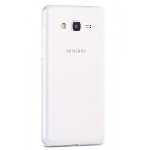 Силиконовый транспарентный чехол с градиентным цветовым напылением для Samsung Galaxy Grand Prime Белый