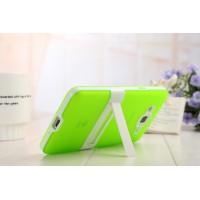 Двухкомпонентный силиконовый чехол с пластиковым каркасом-подставкой для Samsung Galaxy Grand Prime Зеленый