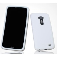 Премиум софт-тач силиконовый чехол для LG G Flex Белый