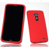 Премиум софт-тач силиконовый чехол для LG G Flex Красный