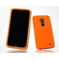 Премиум софт-тач силиконовый чехол для LG G Flex Оранжевый
