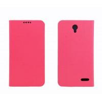 Чехол портмоне подставка на пластиковой основе для Alcatel One Touch Pop 2 (4.5) Розовый
