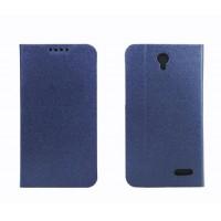 Чехол портмоне подставка на пластиковой основе для Alcatel One Touch Pop 2 (4.5) Синий