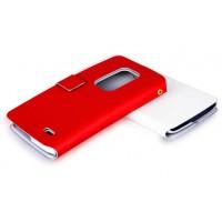 Чехол флип с отделением для карт для LG G Flex Красный