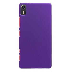 Пластиковый матовый непрозрачный чехол для Lenovo Vibe Shot Фиолетовый