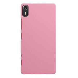 Пластиковый матовый непрозрачный чехол для Lenovo Vibe Shot Розовый