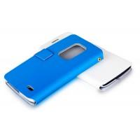 Чехол флип с отделением для карт для LG G Flex Синий