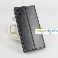 Чехол портмоне подставка с защелкой для Lenovo Vibe Shot Черный