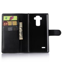 Чехол портмоне подставка с защелкой для LG G4 Stylus Черный