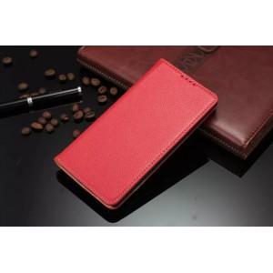 Кожаный чехол горизонтальная книжка подставка для LG G4 Красный