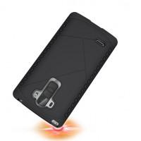 Дизайнерский антиударный двухкомпонентный чехол силикон/поликарбонат для LG G4 Stylus Черный