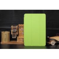 Текстурный чехол флип подставка сегментарный на пластиковой полупрозрачной основе для Samsung Galaxy Tab A 8 Зеленый
