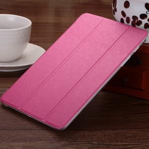 Текстурный чехол флип подставка сегментарный на пластиковой полупрозрачной основе для Samsung Galaxy Tab A 8 Пурпурный
