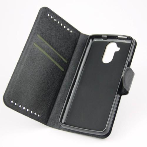 Текстурный чехол портмоне подставка с защелкой для Acer Liquid Z410 Черный