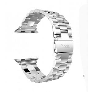 Браслет из нержавеющей гипоаллергенной ювелирной стали трехсегментный Apple Watch 38мм