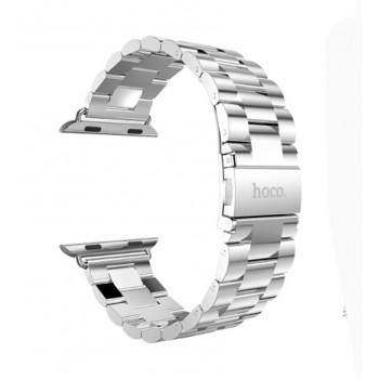 Браслет из нержавеющей гипоаллергенной ювелирной стали трехсегментный Apple Watch 42мм