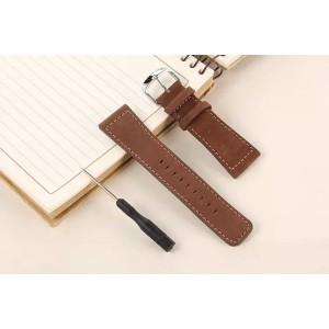 Кожаный винтажный ремешок без металлического коннектора для Apple Watch 38мм Коричневый