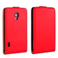 Чехол книжка вертикальная для LG Optimus L7 2 II P713 Красный