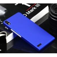Пластиковый тонкий чехол для Huawei Ascend P6 Синий