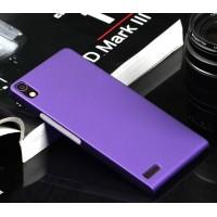 Пластиковый тонкий чехол для Huawei Ascend P6 Фиолетовый