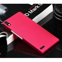 Пластиковый тонкий чехол для Huawei Ascend P6 Пурпурный