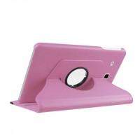 Чехол подставка роторный для Samsung Galaxy Tab E 9.6 Розовый