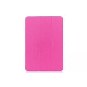 Текстурный чехол флип подставка сегментарный на пластиковой полупрозрачной онснове для Samsung Galaxy Tab E 9.6 Пурпурный
