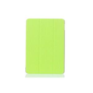 Текстурный чехол флип подставка сегментарный на пластиковой полупрозрачной онснове для Samsung Galaxy Tab E 9.6 Зеленый