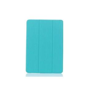 Текстурный чехол флип подставка сегментарный на пластиковой полупрозрачной онснове для Samsung Galaxy Tab E 9.6 Голубой