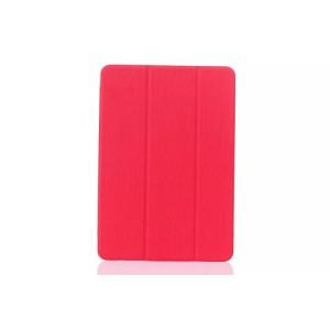 Текстурный чехол флип подставка сегментарный на пластиковой полупрозрачной онснове для Samsung Galaxy Tab E 9.6 Красный