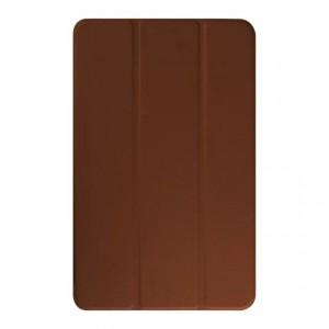 Текстурный чехол флип подставка сегментарный для Samsung Galaxy Tab E 9.6 Коричневый