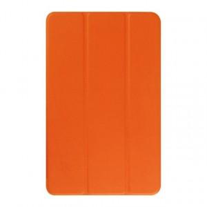 Текстурный чехол флип подставка сегментарный для Samsung Galaxy Tab E 9.6 Оранжевый