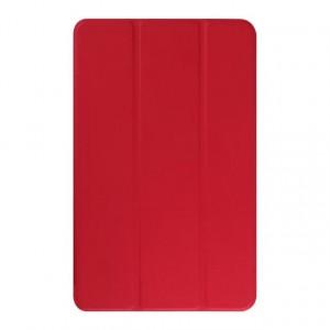 Текстурный чехол флип подставка сегментарный для Samsung Galaxy Tab E 9.6 Красный