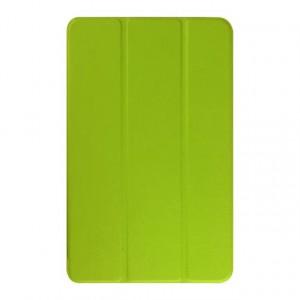 Текстурный чехол флип подставка сегментарный для Samsung Galaxy Tab E 9.6 Зеленый