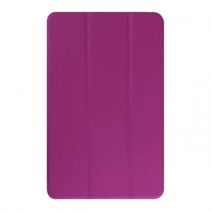 Текстурный чехол флип подставка сегментарный для Samsung Galaxy Tab E 9.6 Фиолетовый