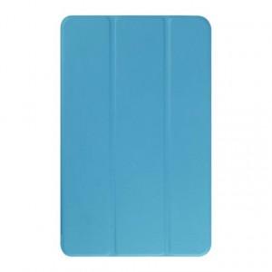 Текстурный чехол флип подставка сегментарный для Samsung Galaxy Tab E 9.6 Голубой