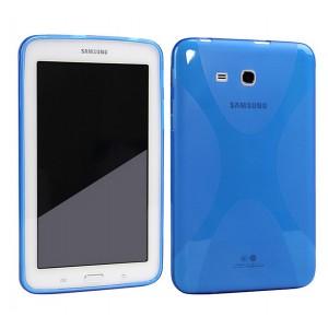 Силиконовый матовый X чехол для Samsung Galaxy Tab E 9.6 Синий