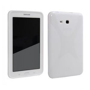 Силиконовый матовый X чехол для Samsung Galaxy Tab E 9.6 Белый