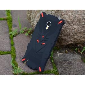 Силиконовый дизайнерский антиударный фигурный чехол для Meizu M2 Note Красный