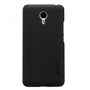 Пластиковый матовый нескользящий премиум чехол для Meizu M2 Note Черный